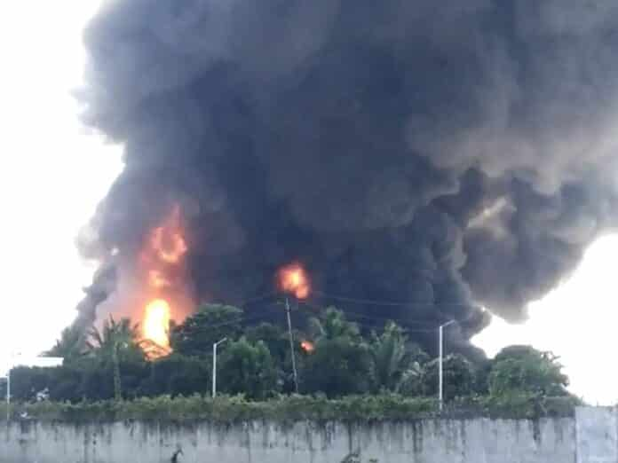 fire in the chemical company of Godhra